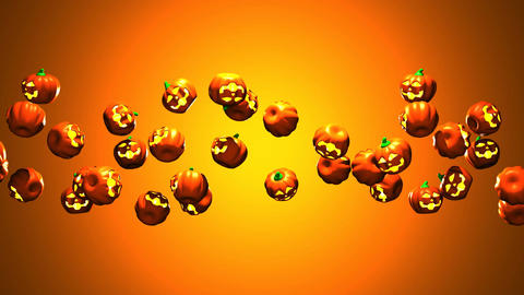 Jack-O-Lantern On Orange Background 0