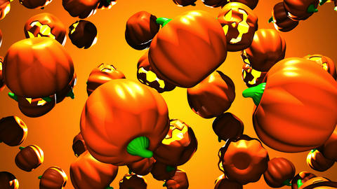 Jack O Lanterns On Orange Background Animation