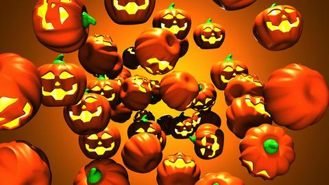 Jack-O-Lantern On Orange Background 2