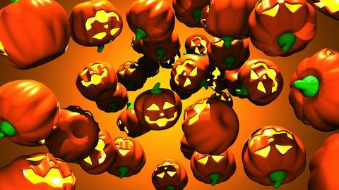 Jack O Lanterns On Orange Background Animation