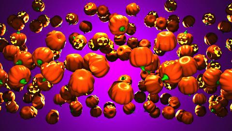Jack-O-Lanterns On Purple Background