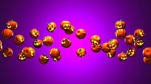 Jack-O-Lanterns On Purple Background 0