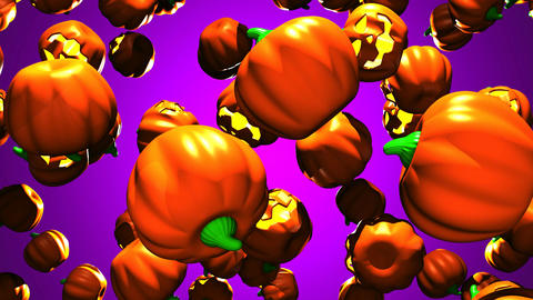 Jack-O-Lanterns On Purple Background 1