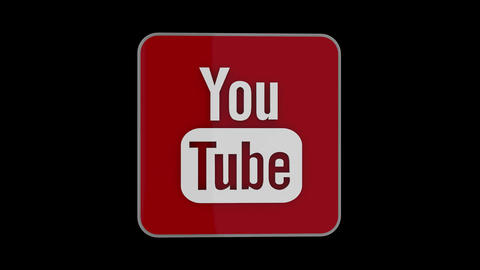 YouTube 3D Logo CG動画素材