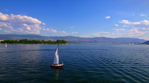 sailboat at sea Footage