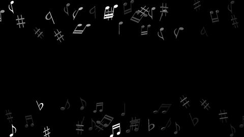 Black Musical Notes On Black Background CG動画