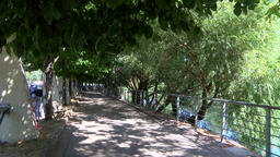 River Trail in Italy Footage