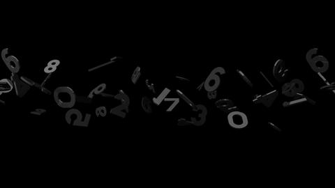 Black Numbers On Black Background Stock Video Footage