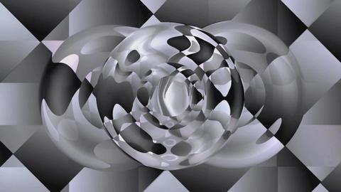 Video background with metallic effect, silver grey elegant fantasy design eith c Animación