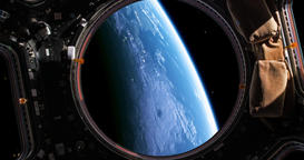 A stunning 4K view of planet earth as viewed by an astronaut who is watching it  Footage