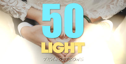 50 Final Cut Light Transitions แม่แบบ Apple Motion