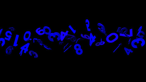Blue Numbers On Black Background CG動画