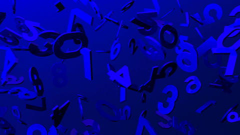 Blue Numbers On Blue Background CG動画