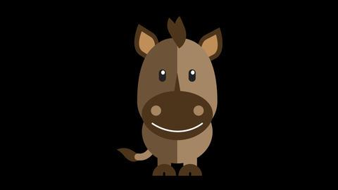 Animated Horse Icon Animation