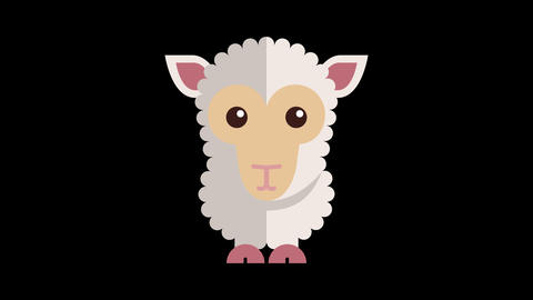 [alt video] Animated Sheep Icon