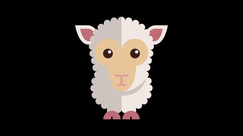 Animated Sheep Icon CG動画素材
