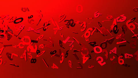 Red Numbers On Red Background CG動画