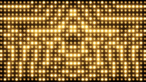 Wall of Flashing Cinematic Lights CG動画素材