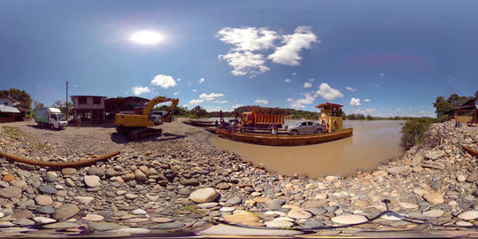 360Vr Ahuano Port Ferry River Crossing Napo River In Ecuador 360 Vr Video Footage