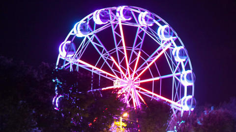 Close-up of a ferris wheel, Time-lapse Image