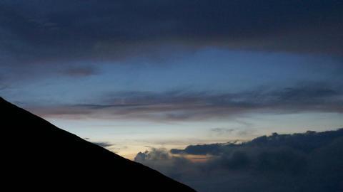 Mt Fuji in Japan night landscape ビデオ