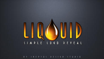 Liquid simple logo reveal Apple Motion Template