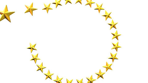 Stars For Title Frame On White Background Animación
