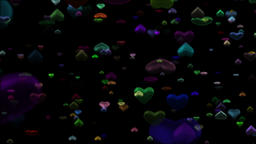 Colorful hearts Animation