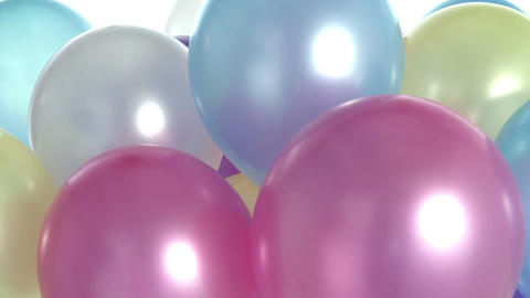 Studio Sequence Of Multi-Colored Balloons Moving Footage