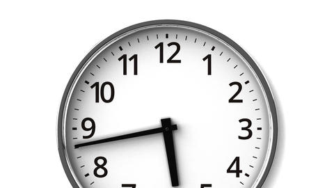 Reverse Rotation Clock On White Wall CG動画