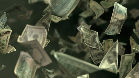 Falling Dollar banknotes in 4K Loopable Animation