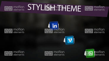 Social Media Elements After Effects Templates