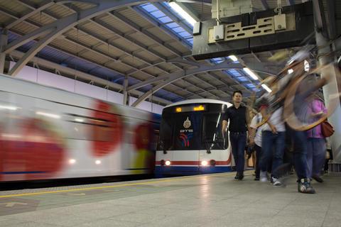 The Bangkok Mass Transit System (BTS) Fotografía