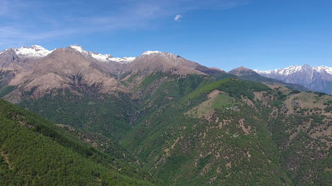 Aerial view on mountains near Como lake Italy Footage