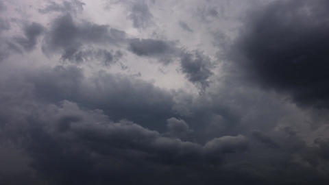 dark storm clouds are moving fast, timelapse Footage