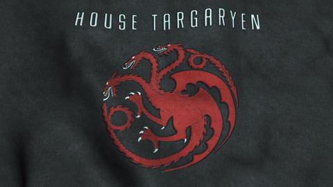 House Targaryan Flag Waving Animation