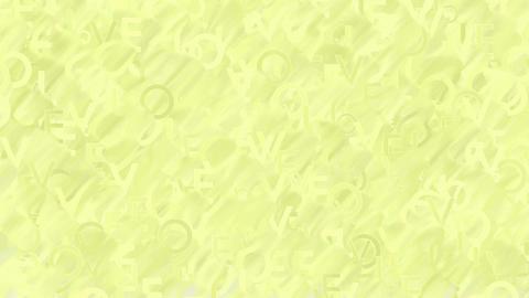 Animated words Love plain yellow background Animation