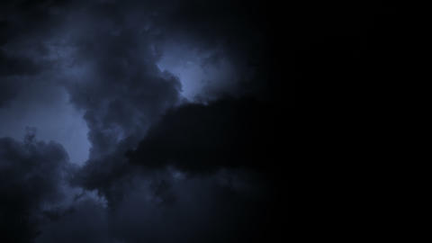 Lightning Flashes in Storm Clouds - 4K Footage