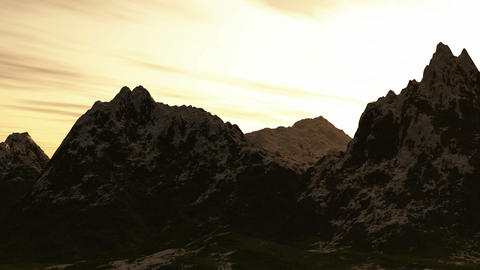 Mountain panorama landscape. valley with stones in grass... Stock Video Footage
