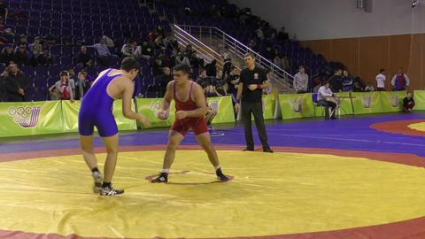 Boys compete in freestyle wrestling Live Action