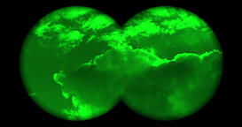 Searching the sky with night vision binoculars, no reticle Image