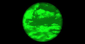 Searching the sky with single night vision scope, no reticle Image