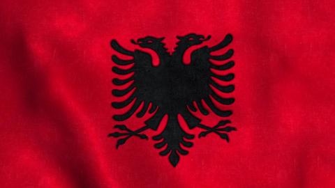 Albania Flag in FullHD Animation