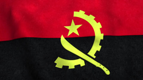 Angola Flag in FullHD Animation