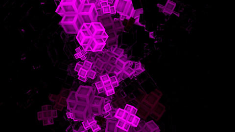 Glowing Geometry Shapes Loop, Stock Animation