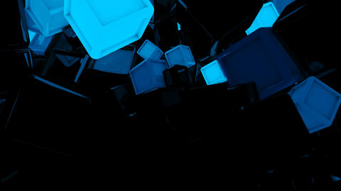 Glowing Geometry Shapes Loop Animation