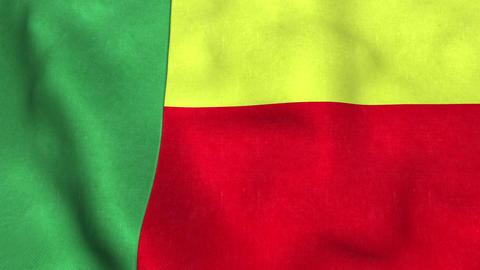 Benin Flag in FullHD Animation