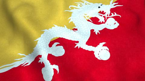 Bhutan Flag in FullHD Animation