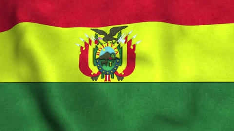 Bolivia Flag in FullHD Animation