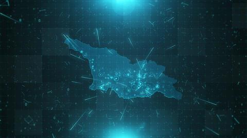 Georgia Map Population 4K Animation